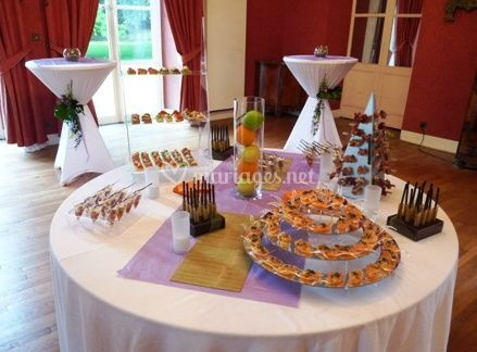 Présentation de la table de buffet