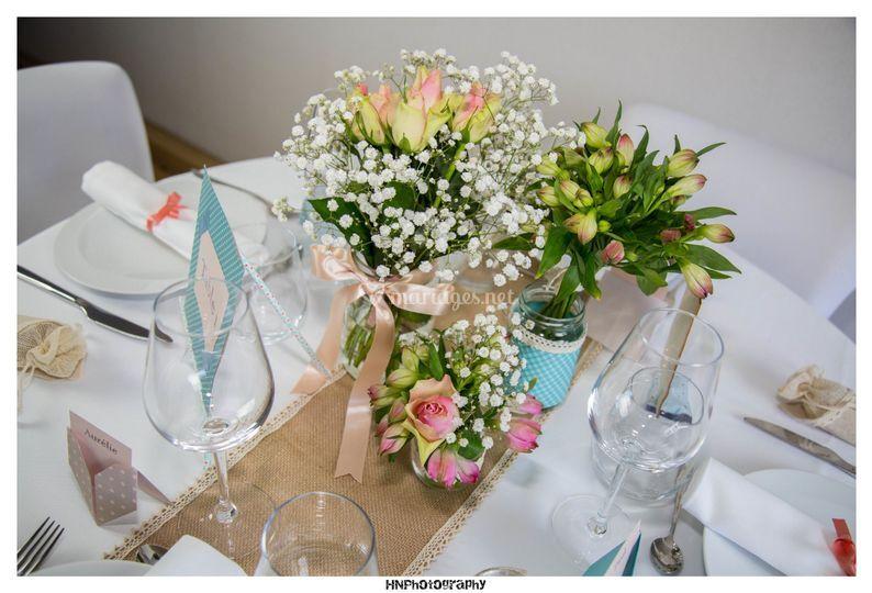 Composition florale guinguette
