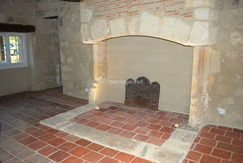 Salle à manger cheminée