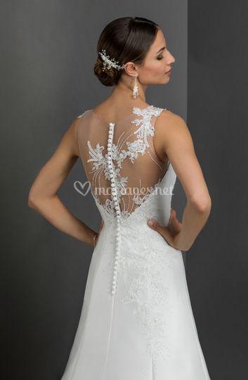 Dos robe de mariée