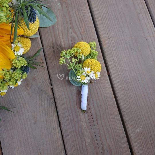 Boutonnière pour le marié