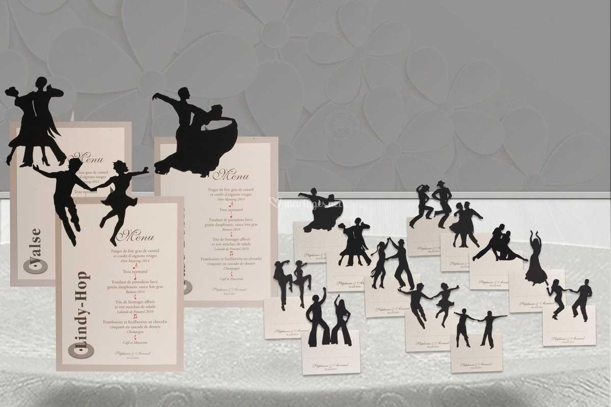 déco de table danse de mots et papiers | photo 4