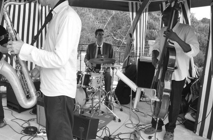 Mariage quartet avec saxophone