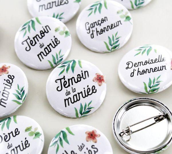 Badges pour famille et invités