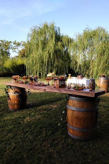 Vin d honneur champetre