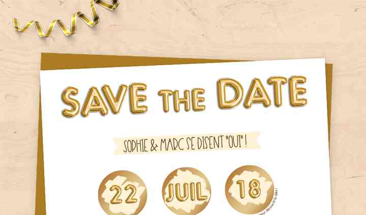 Save the Date à gratter