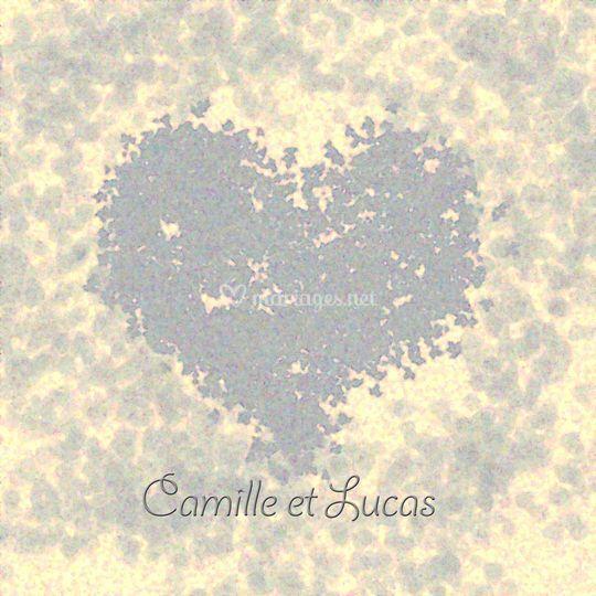 Faire-part coeur beige