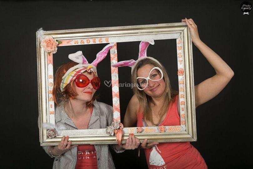 Cadre lors d'un photobooth