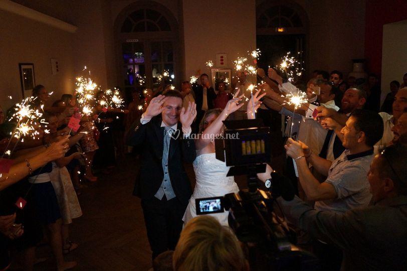 Surprise arrivée des mariés