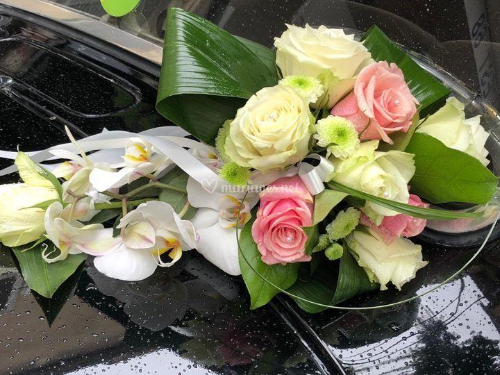 Bouquet d'une voiture
