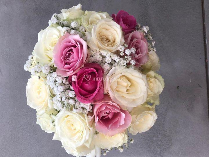Bouquet d'une mariée