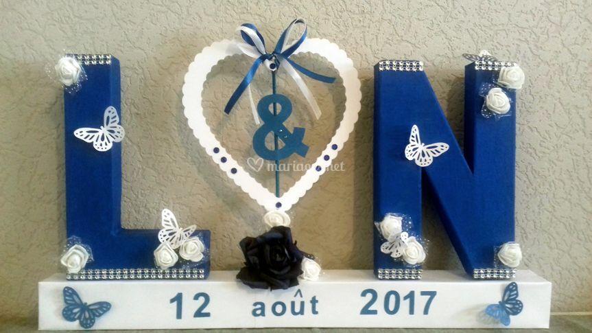 Déco lettres mariage papillons