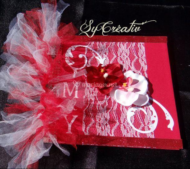 Livre d'or mariage orchidée