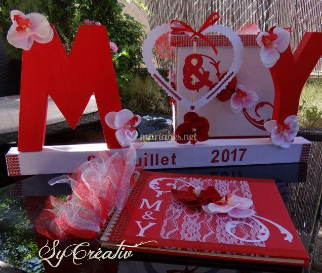 Ensemble mariage orchidée