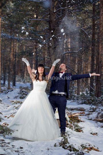 Les heureux mariés