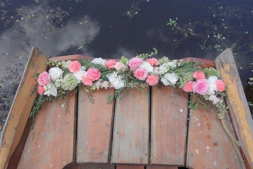 Fleurissement barque