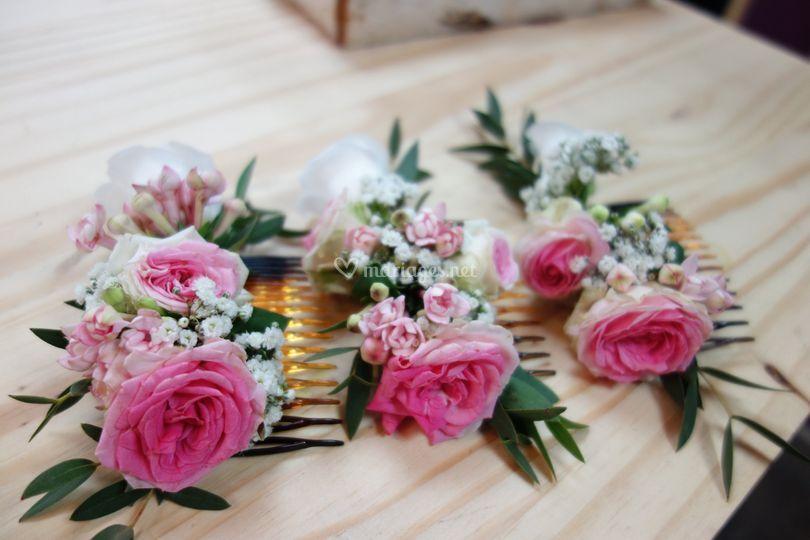Peignes fleuris