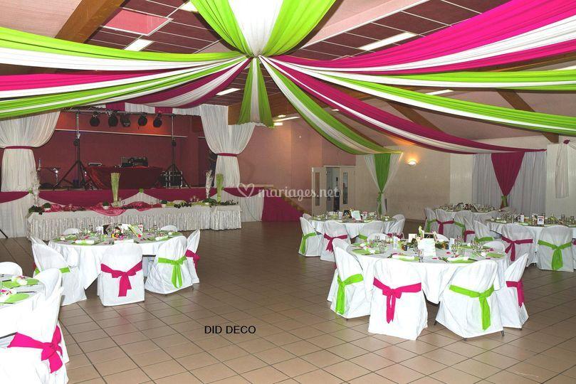 D coration salle velum sc ne housse de chaise de did d co d coration ev nementielle photos - Decoration evenementielle ...