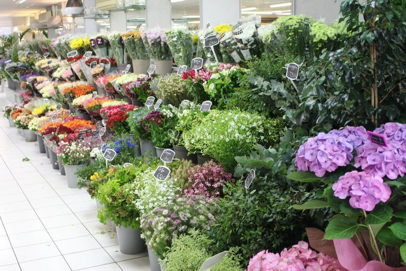 Le choix de fleurs à la botte
