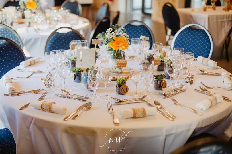 Mariage - Table décorée