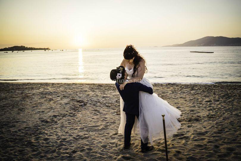 Shooting au bord de plage