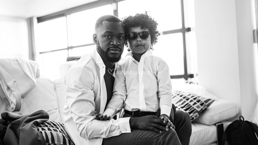 Préparatifs père et fils