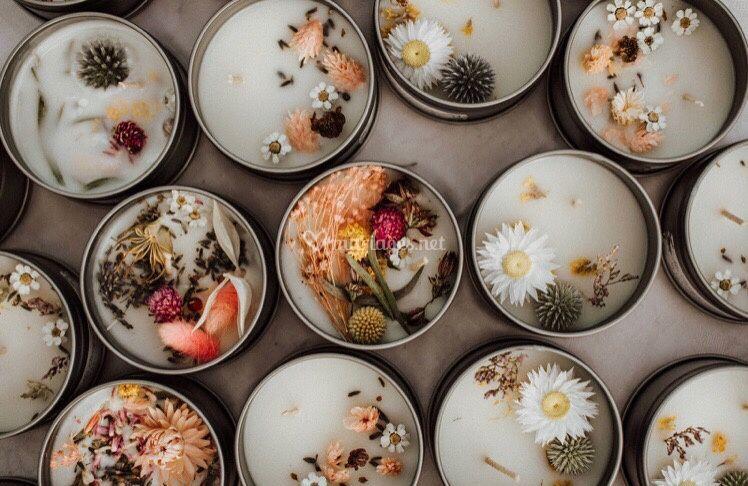 Atelier bougies fleuries