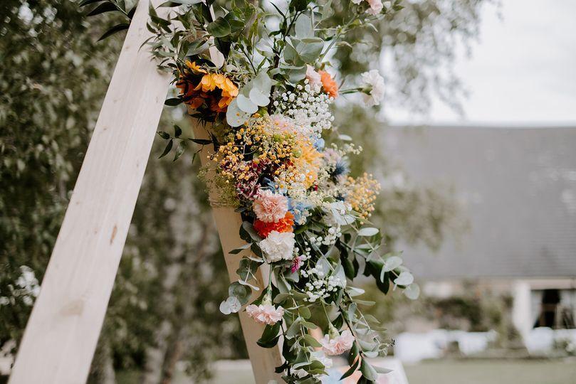 Détail floral arche