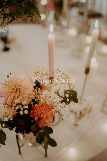Détails composition florale