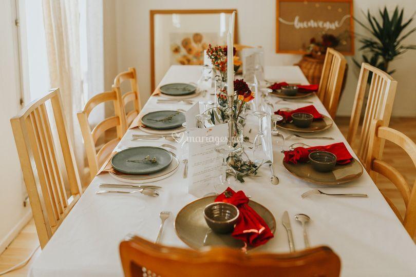 Table aux couleurs d'automne