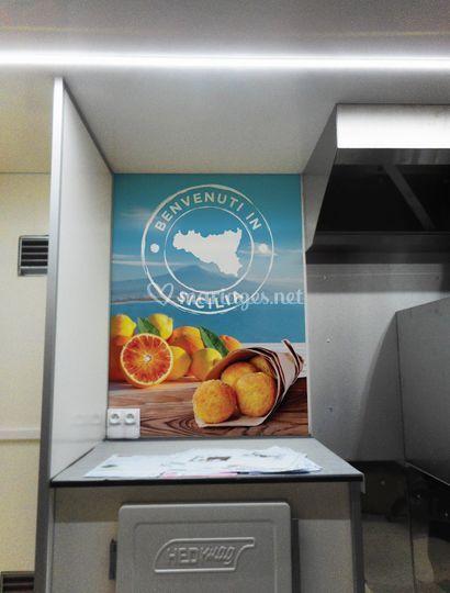 Intérieur food truck