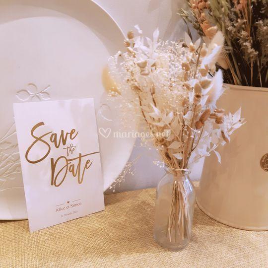 Save the date doré