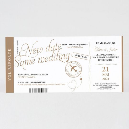 Change the date mariage voyage