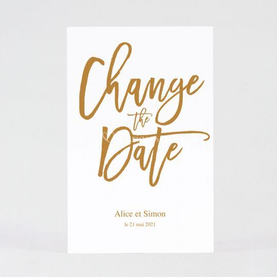 Change the date mariage chic