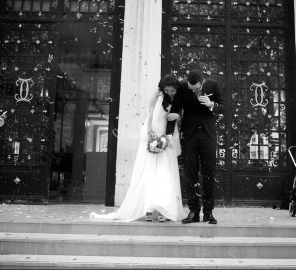 Mariage sortie Mairie