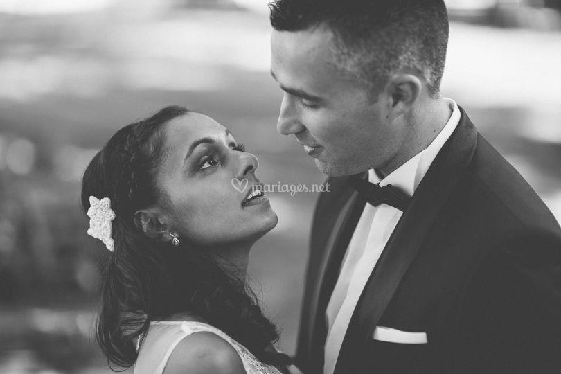 Couple (noir et blanc)