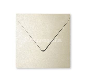 Enveloppe carré ivoire
