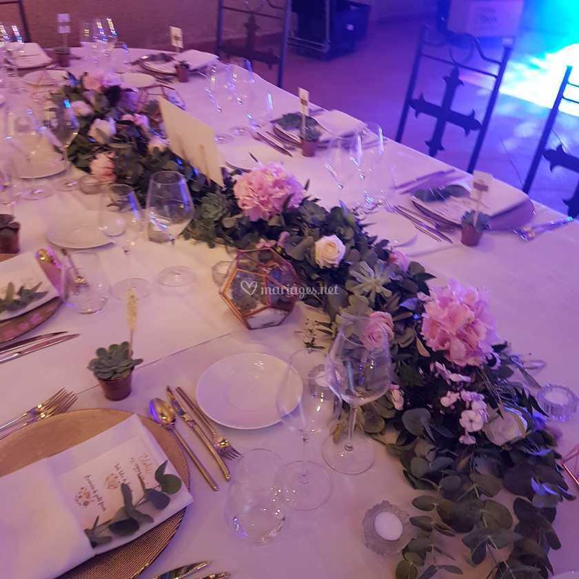 chemin de table eucalyptus de les fleurs du lion | photo 36