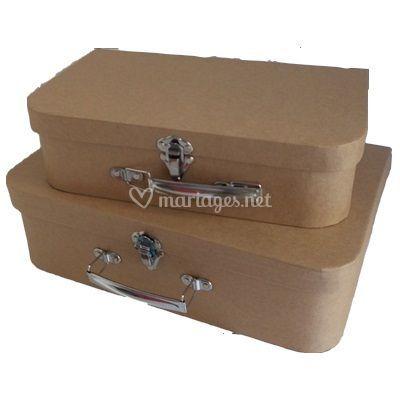 Boîtes valise carton