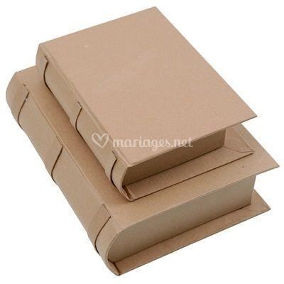 Boîtes carton forme livre
