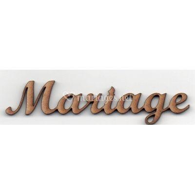 Lettres en bois mariage