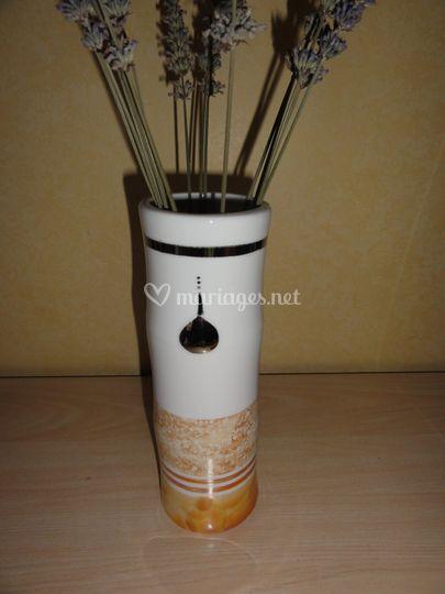 Vase platine