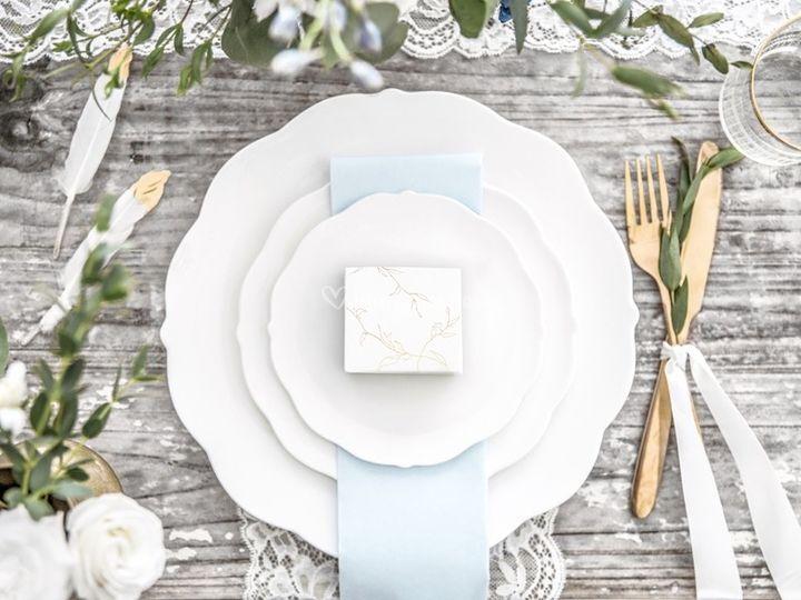 Décoration table mariage blanc