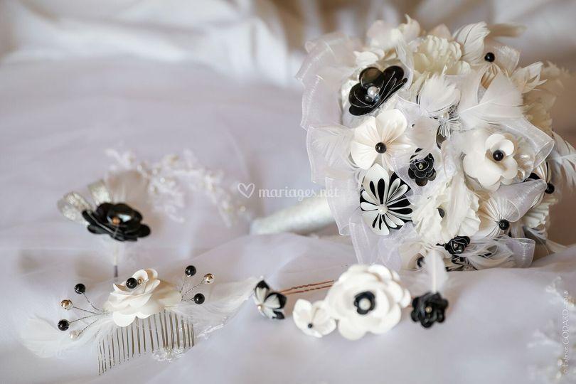 Bouquet éternel et accessoires
