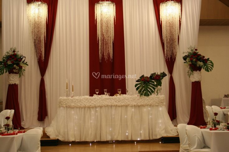 table d 39 honneur des mari s de k k d coration photos. Black Bedroom Furniture Sets. Home Design Ideas