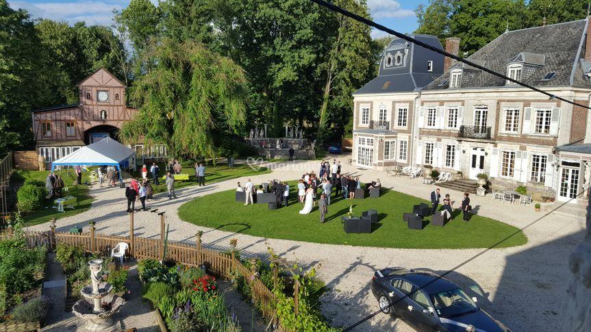 Vin d'honneur sur Château de Montaubois