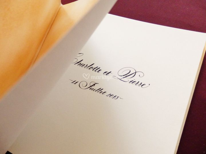 Calligraphie Livre d'or