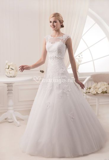 Robe de mariée bustier coeur