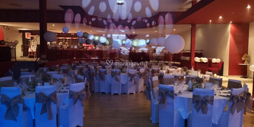 Eclairage salle mariage 2020