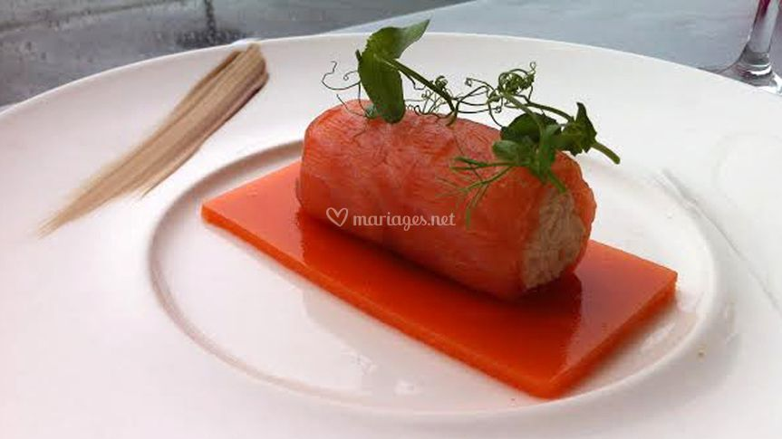Cannelloni de saumon fumé
